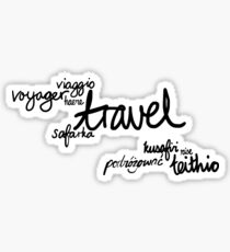 Travel the World! Sticker