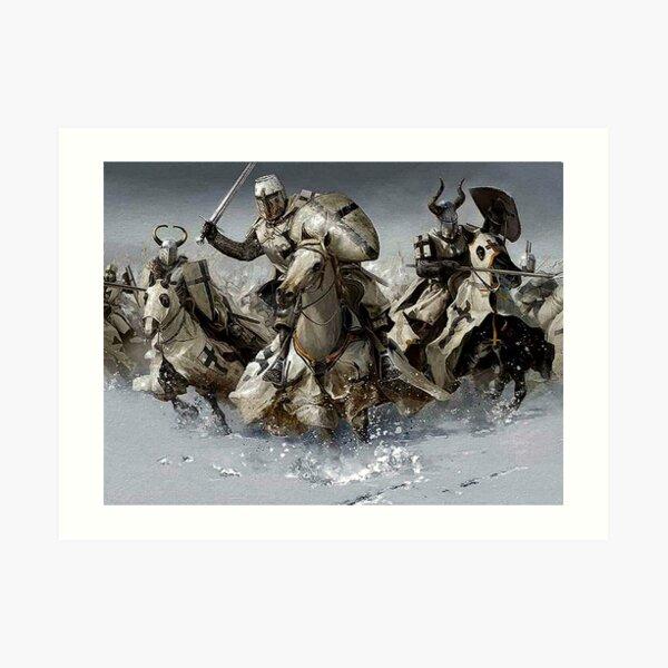 Teutonic Knights crusading in Winter Art Print
