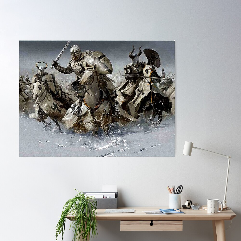 Teutonic Knights crusading in Winter Poster