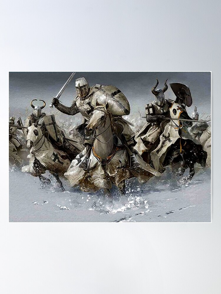Alternate view of Teutonic Knights crusading in Winter Poster