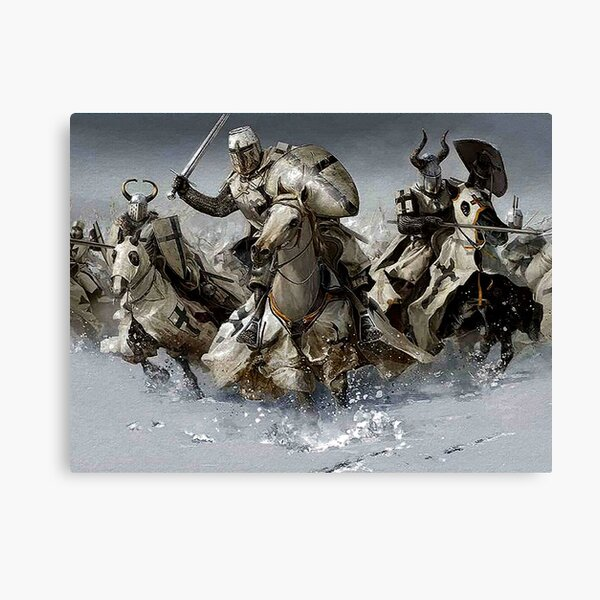 Teutonic Knights crusading in Winter Canvas Print