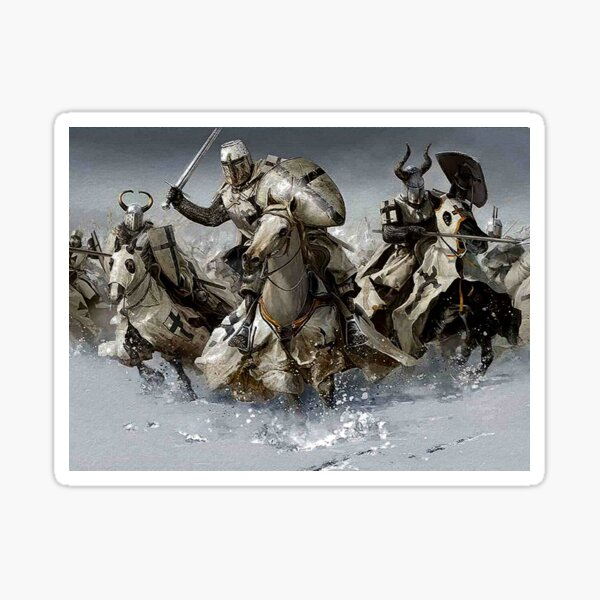 Teutonic Knights crusading in Winter Sticker