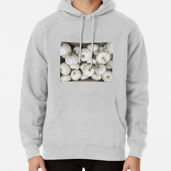 White ghost pumpkins Fall Harvest Delight Thanksgiving decor favorite Pullover Hoodie
