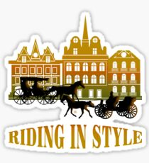 Riding In Style Sticker