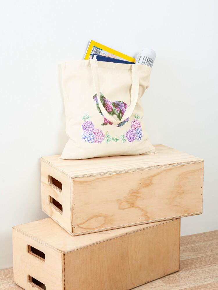 Alternate view of Newfie Hydrangea Design Tote Bag