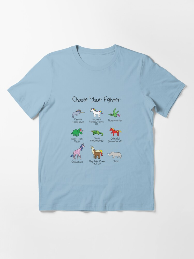 Alternate view of Choose Your Fighter (Horned Warrior Friends) Essential T-Shirt