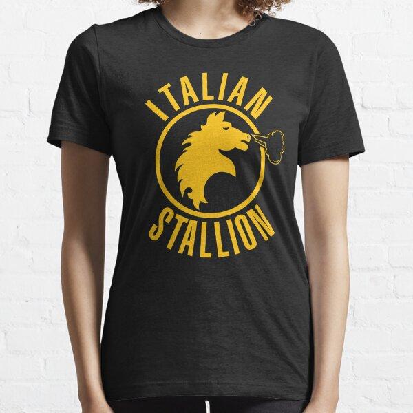 Étalon italien (imprimé jaune) T-shirt essentiel