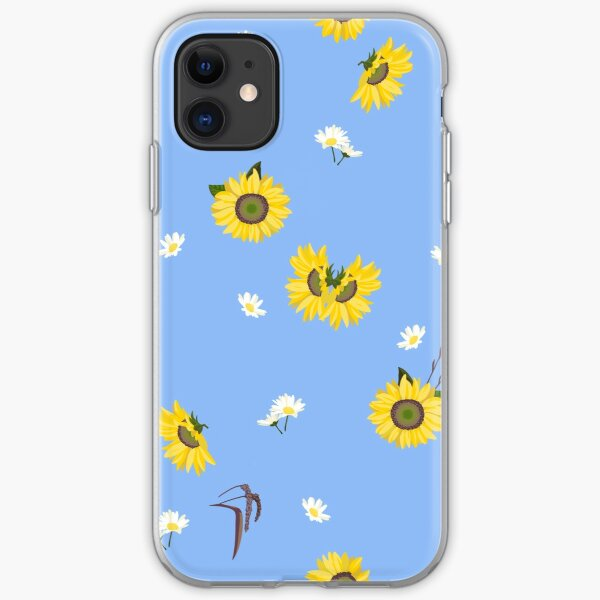 Summer Sunflower Pattern iPhone Soft Case