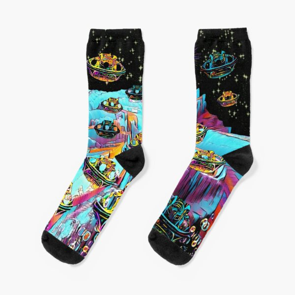 Galaxia Veeslia Airport Socks
