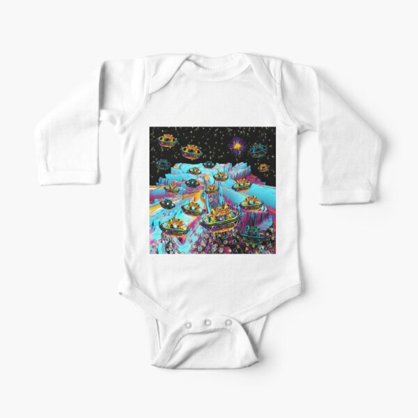Galaxia Veeslia Airport Long Sleeve Baby One-Piece