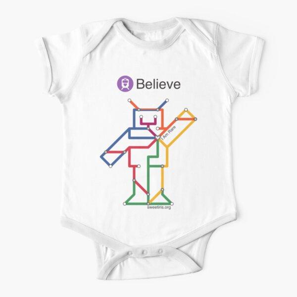 Sweet Iris Robot (Fight GM1 Gangliosidosis) Short Sleeve Baby One-Piece