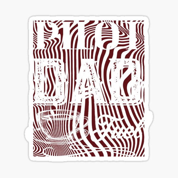 Pilot Dad Fuel Awesome Happy Fathers Day Gift For Coffee Lovers Sticker