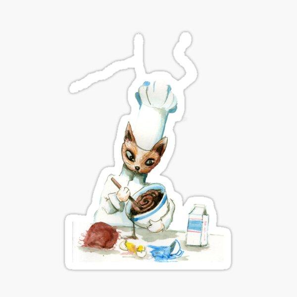 Chef Cat Sticker