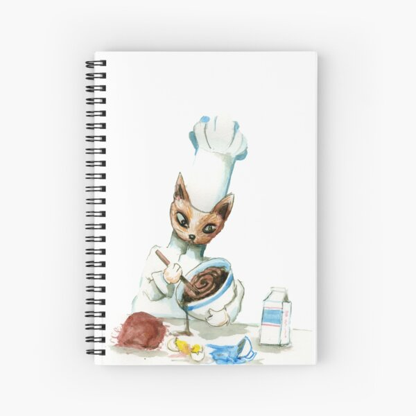 Chef Cat Spiral Notebook