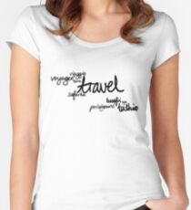 Travel the World! Women's Fitted Scoop T-Shirt