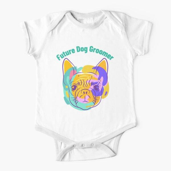 Future Dog Groomer Short Sleeve Baby One-Piece