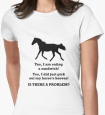 Horse People Humor T-Shirts and Hoodies Women's Fitted T-Shirt