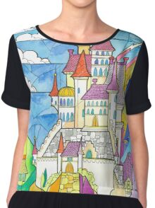 Beauty and the Beast Castle Chiffon Top