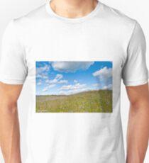 Prairie in Bloom Under Blue Sky T-Shirt