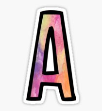 Letter A Sticker