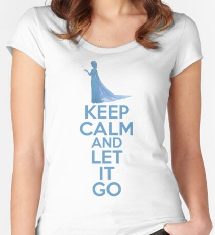 Keep Calm and Let It Go Women's Fitted Scoop T-Shirt