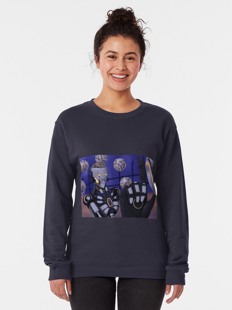 Alternate view of Spooky Robot Uncle Pullover Sweatshirt