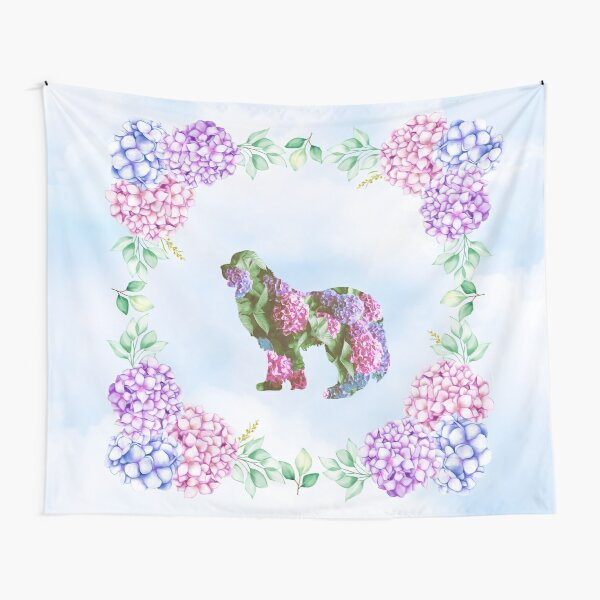 Newfie Hydrangea Design Tapestry