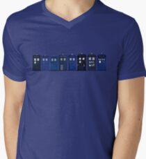 TARDIS Lineup Mens V-Neck T-Shirt