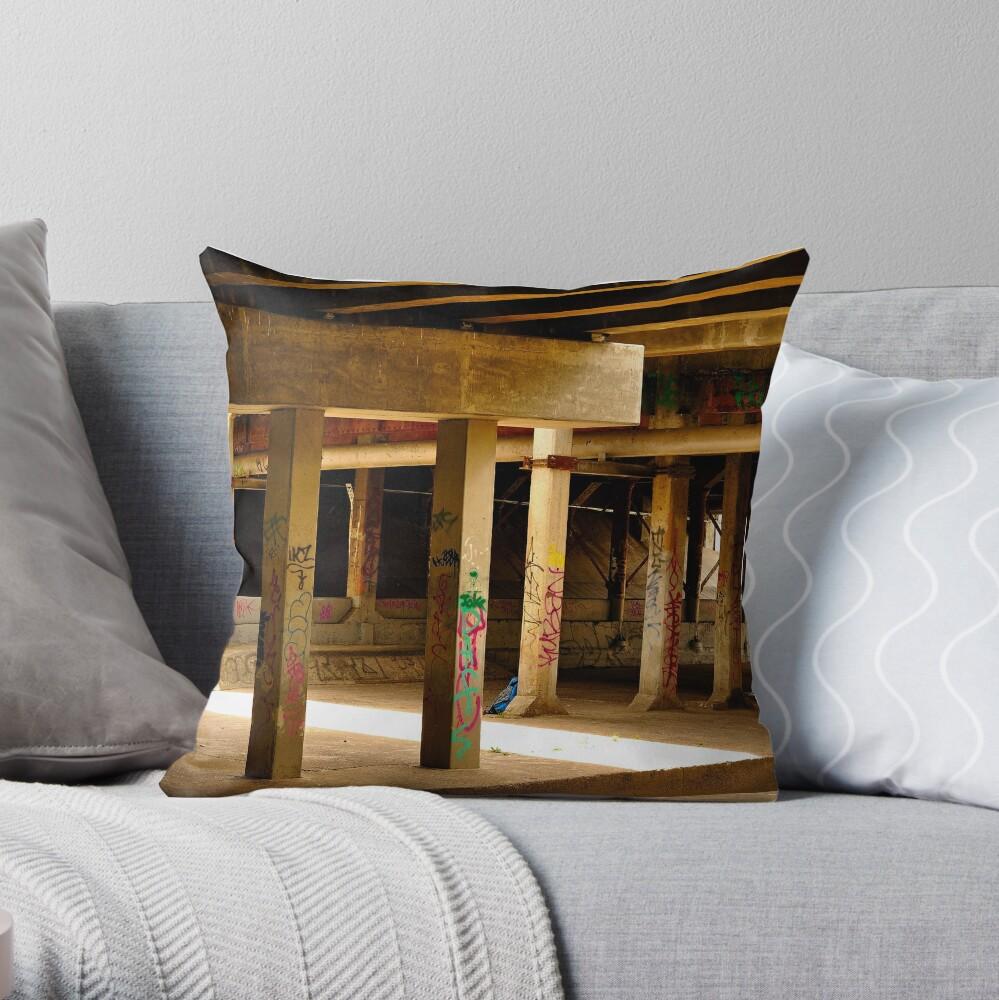 Moonee Ponds Creek Throw Pillow