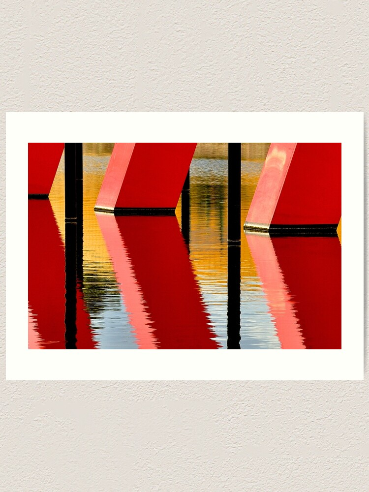 Alternate view of Red Reflections Art Print