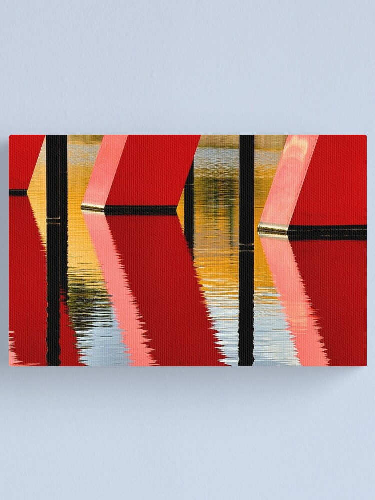 Alternate view of Red Reflections Canvas Print