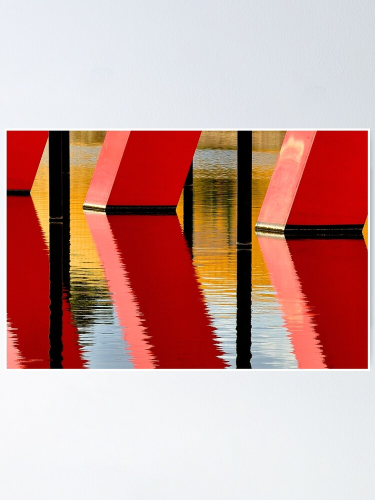 Alternate view of Red Reflections Poster