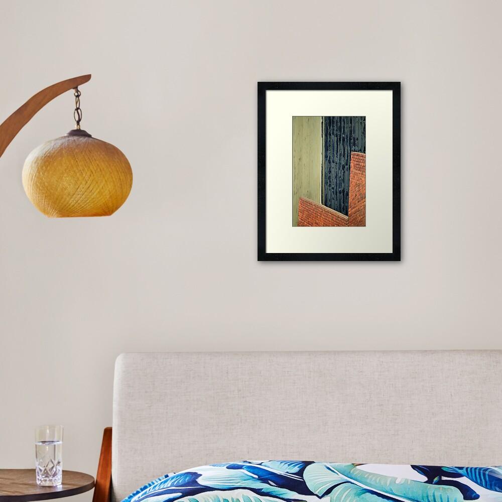 Shapes & Lines Framed Art Print
