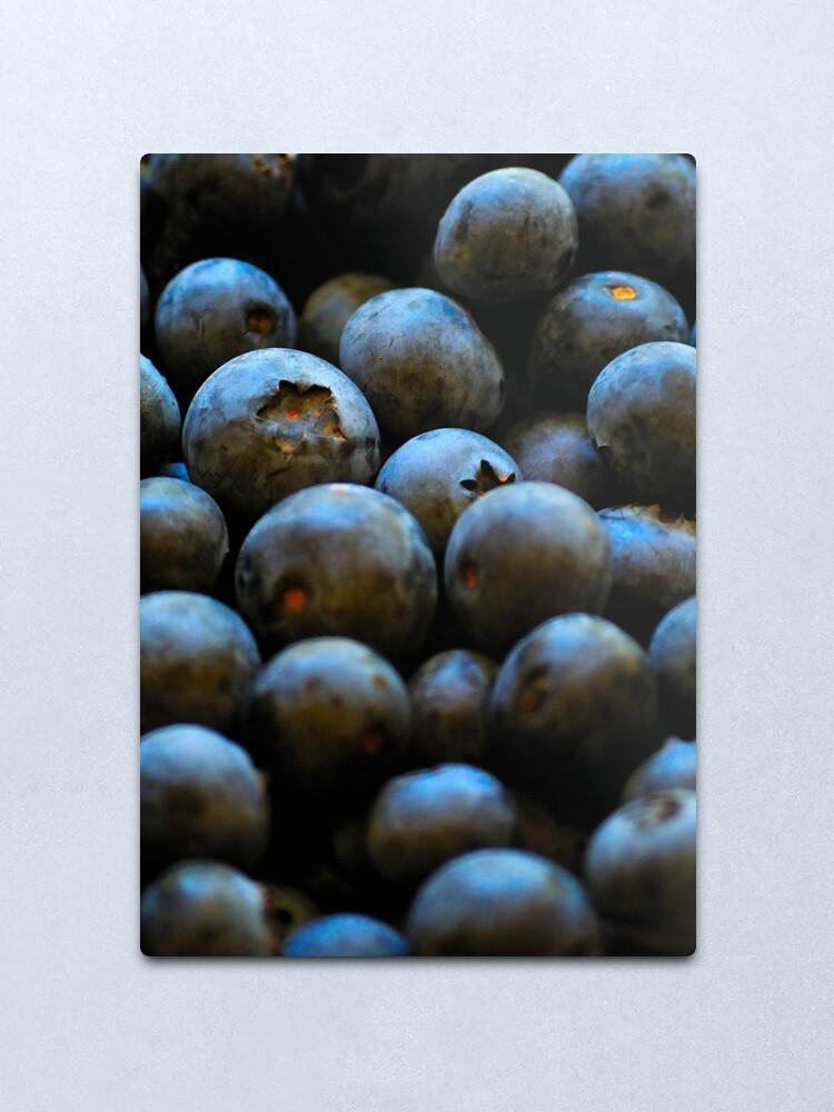 Alternate view of Blueberries Metal Print