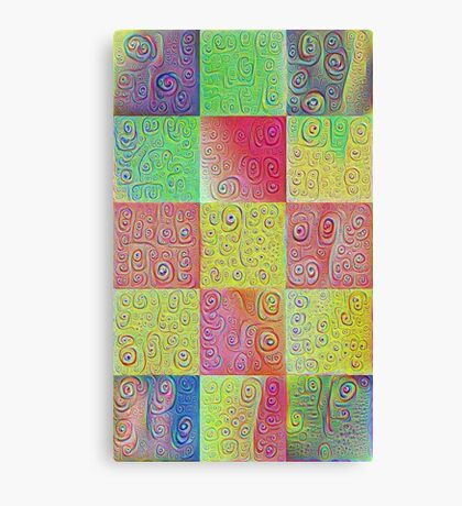 #DeepDreamed factures Canvas Print