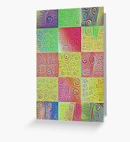 #DeepDreamed factures Greeting Card