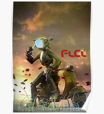 FLCL - Canti and Takkun Poster