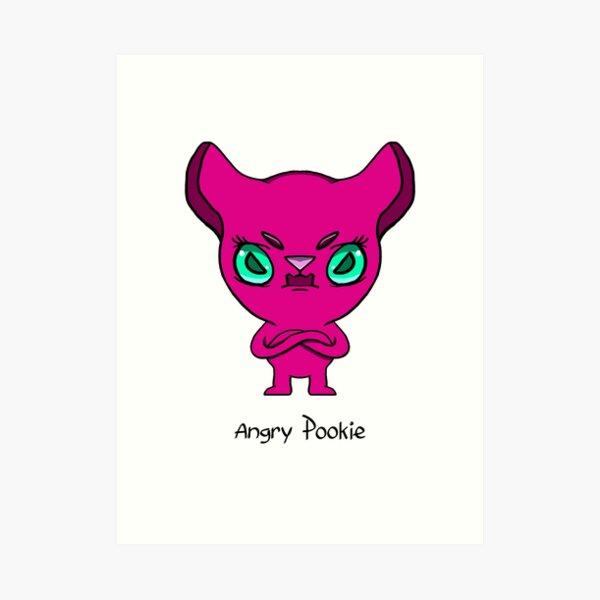 Angry Pookie Art Print