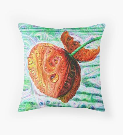 #DeepDreamed Flower 5x5K v1449147619 Throw Pillow