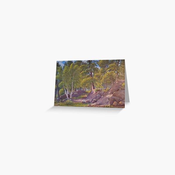 Backyard Landscape, 1933 Greeting Card