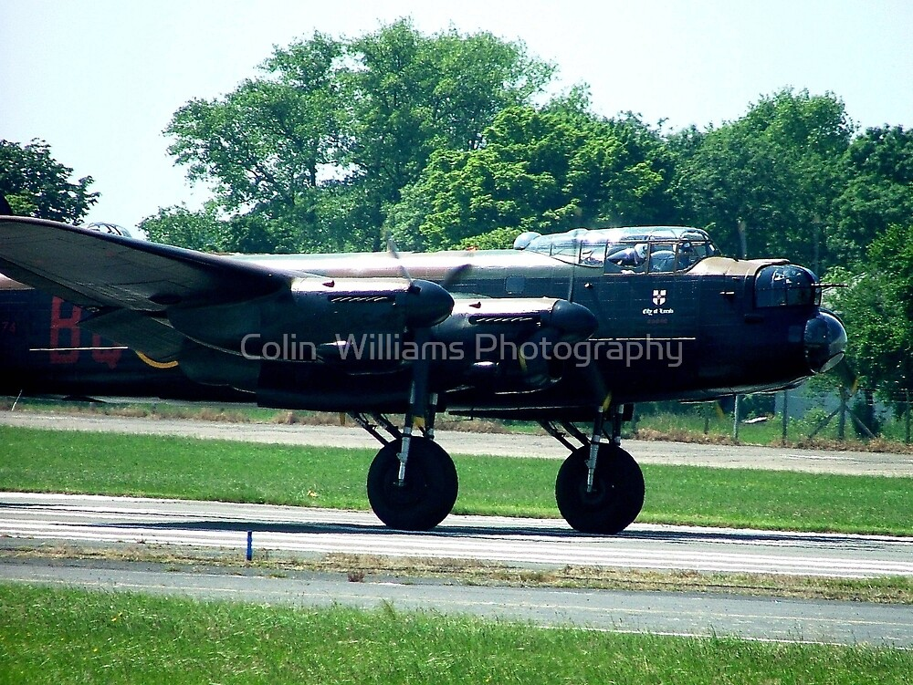 Lancaster Rumbles Down the Runway at Biggin Hill by Colin  Williams Photography