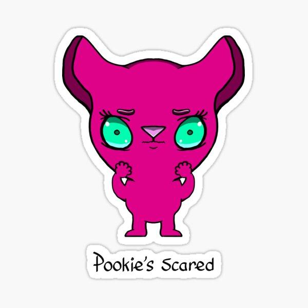 Scared Pookie Sticker