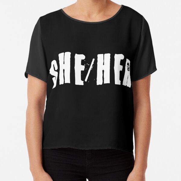 She/Her Chiffon Top