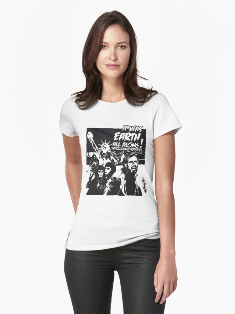 Planet of the Apes  Womens T-Shirt Front