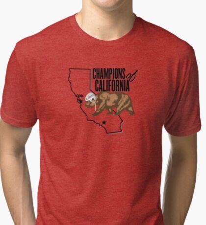 California Champions - Helmet Tri-blend T-Shirt