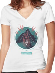 Mountain of Madness Women's Fitted V-Neck T-Shirt
