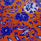 "Blue and Orange Pattern by Belinda ""BillyLee"" NYE (Printmaker)"