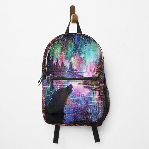Howling Wolf Aurora Galaxy Backpack