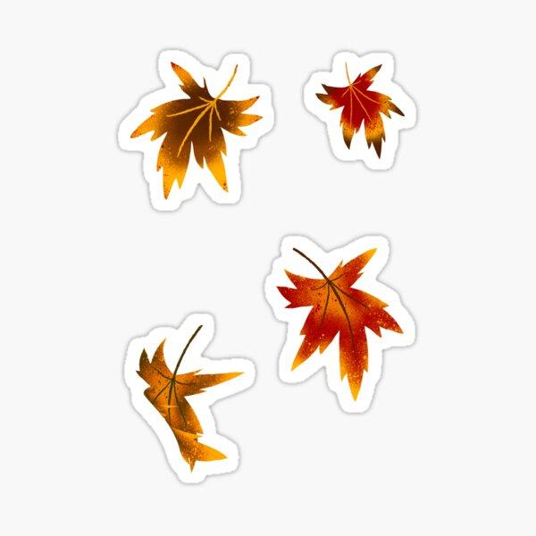Fire Leaves  Sticker