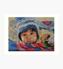 nourrisson Péruvien au bonnet Art Print